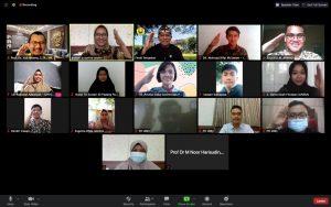Foto bersama Tim Penilai dan 10 Nominator secara virtual usai presentasi dan wawancara